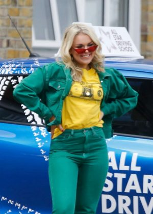 Tallia Storm and Ruby O'Donnell - Taking Part in The All-Star Driving School Show in London