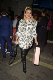 Tallia Storm - Arrives at Annabels Private Members Club in Mayfair