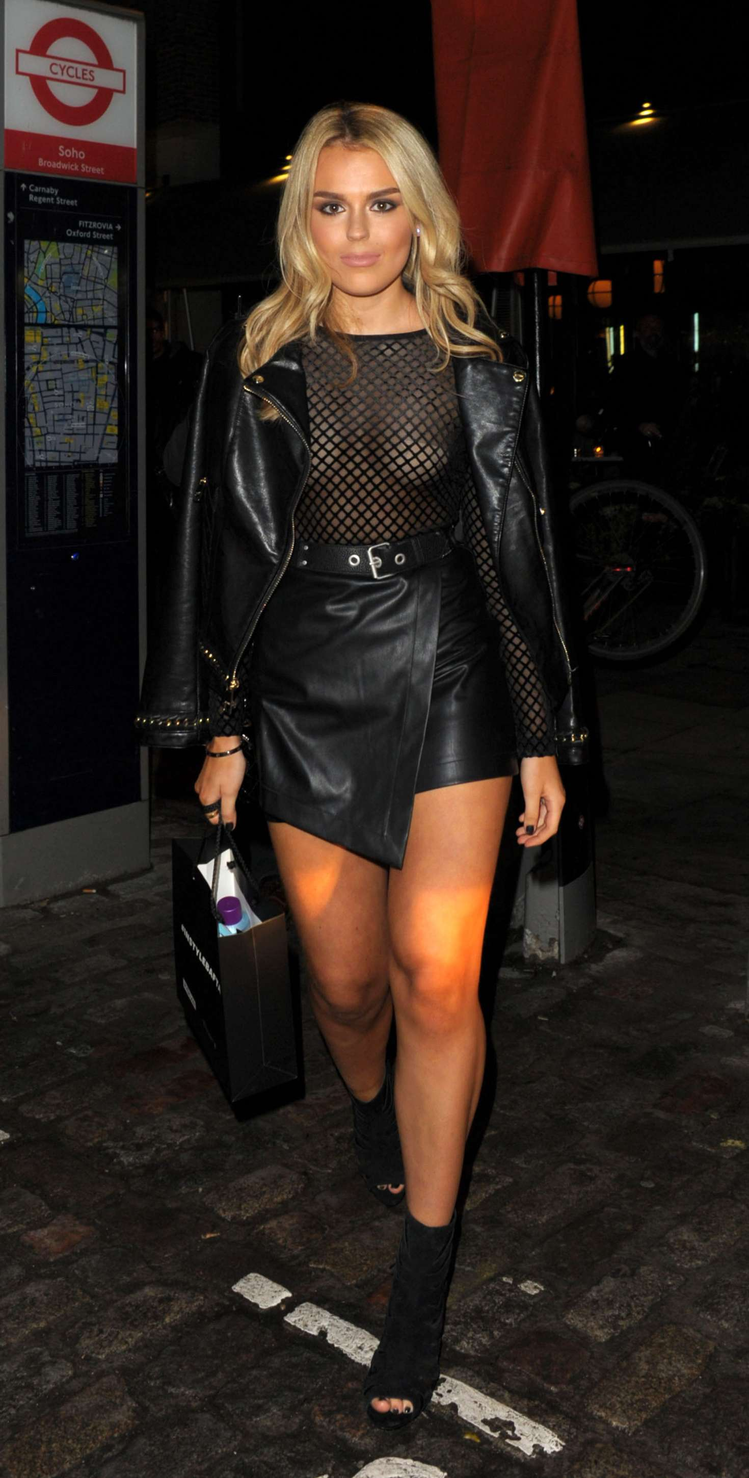 Tallia Storm At Instyle Ee Rising Star Party In London