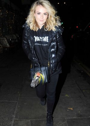 Tallia Storm at The Ivy Chelsea Garden restaurant in London