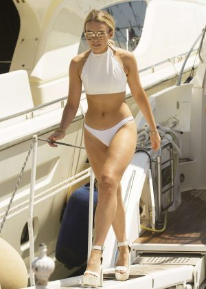 Tallia Storm in Bikini at a yacht in Marbella