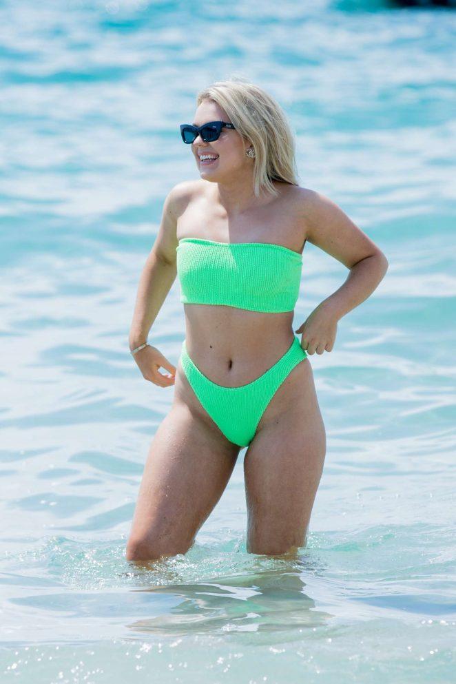 Tallia Storm in Bikini at the Beach in Cannes