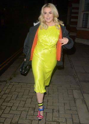 Tallia Storm in Yellow Dress - Out in London