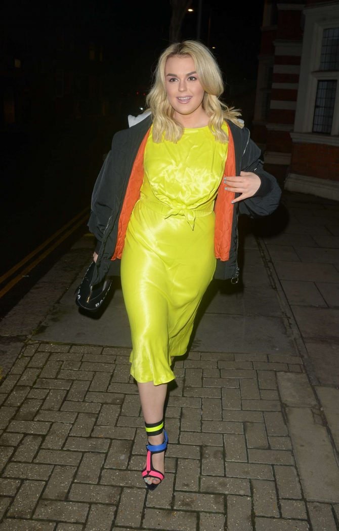 Tallia Storm in Yellow Dress – Out in London