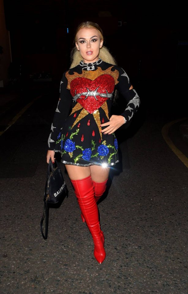 Tallia Storm - Night out at LH2 Studios in London