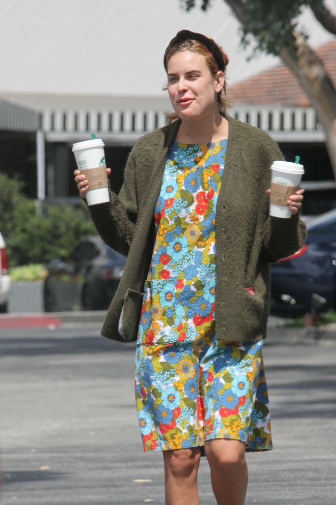 Tallulah Willis in Colorful Dress out in Los Angeles