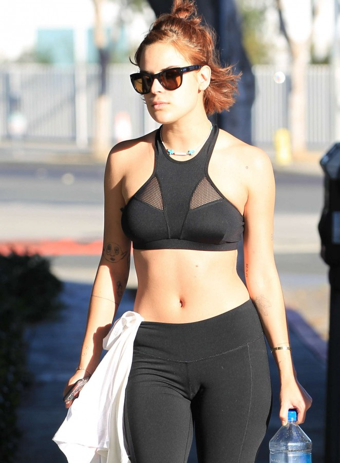 Tallulah Willis In Tights Leaving The Gym 21 Gotceleb