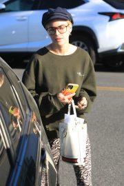 Tallulah Willis wearing Zebra pants in Hollywood