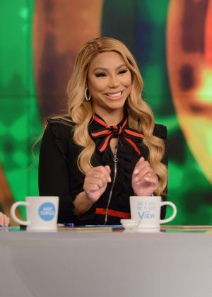 Tamar Braxton at The View in New York