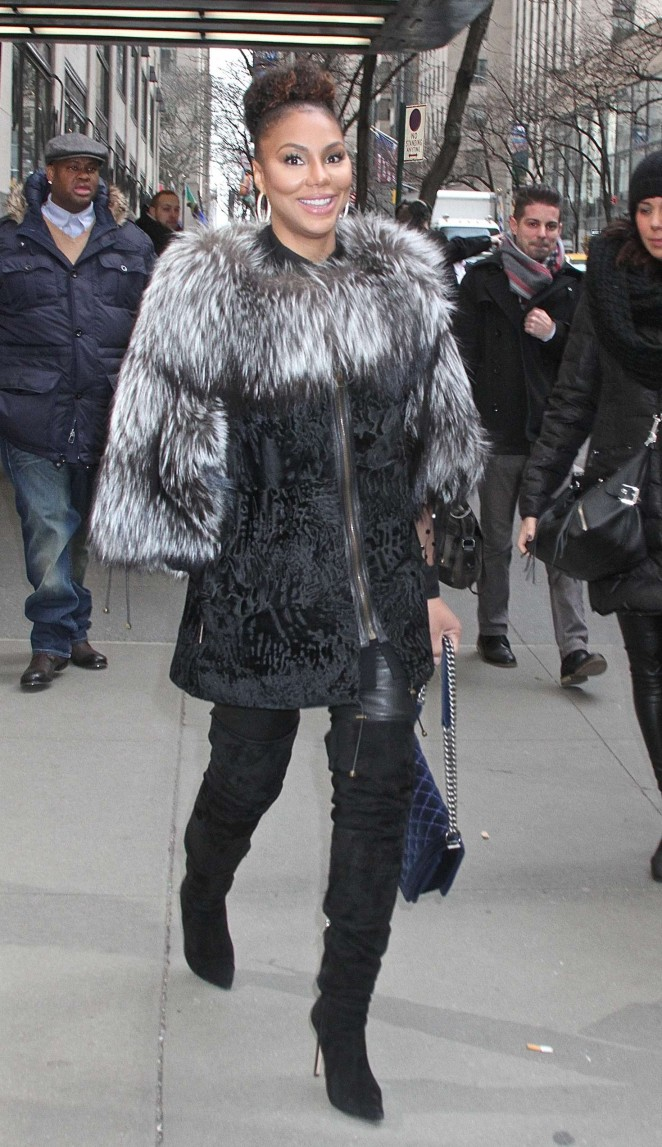 Tamar Braxton - Leaving NBC Studios in New York
