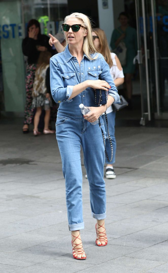 Tamara Beckwith in Jeans out in Leicester Square