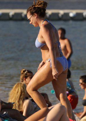 Tamara Ecclestone in Bikini at the beach in Mykonos