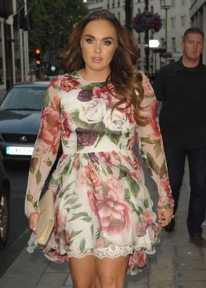 Tamara Ecclestone in Floral Dress at C of London in Mayfair