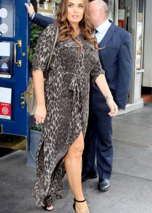 Tamara Ecclestone in Leopard Print Maxi Dress - Out in London
