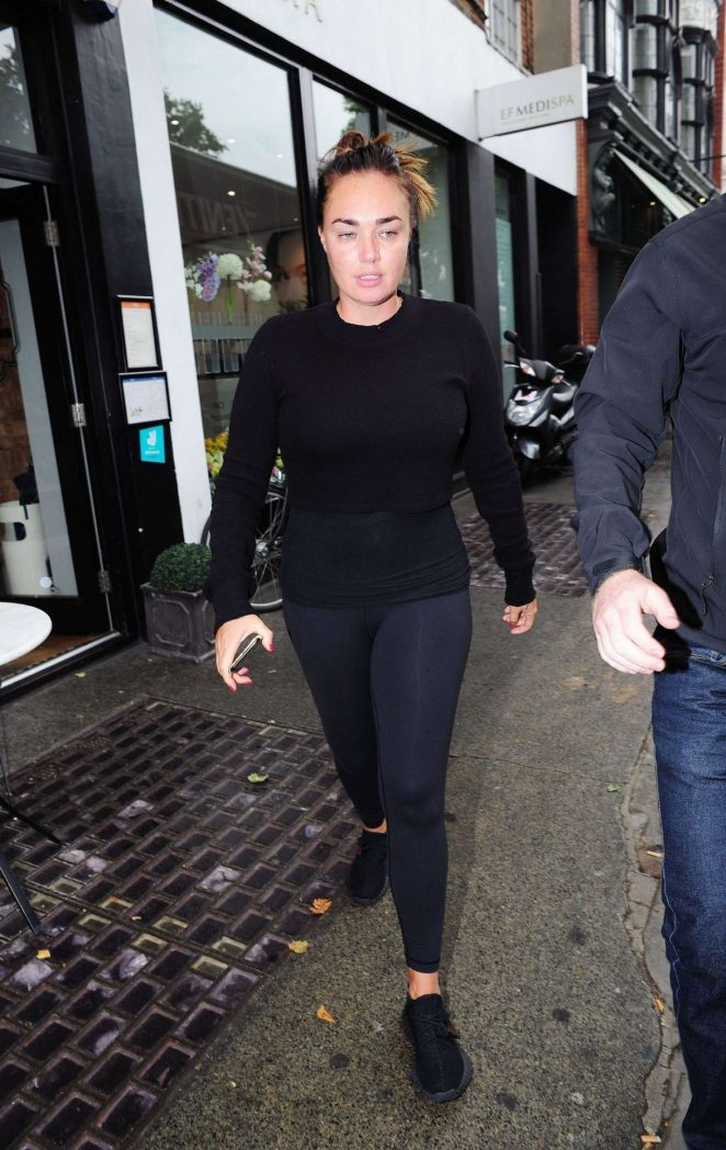 Tamara Ecclestone in Tights Out in London
