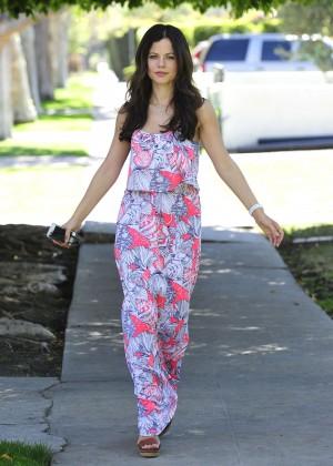 Tammin Sursok in Long Dress Out in LA
