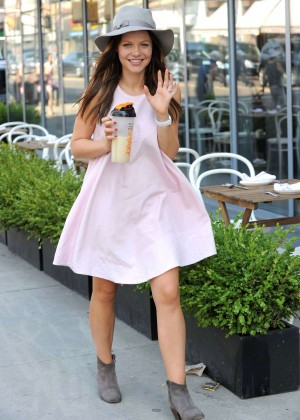 Tammin Sursok in Mini Dress out in NYC