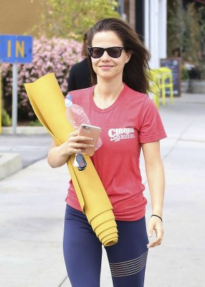 Tammin Sursok - Leaving a yoga class in Los Angeles