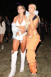 Tammy Hembrow with a friend at Coachella Music Festival in Indio