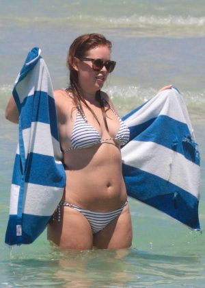 Tanya Burr in Bikini on Miami Beach