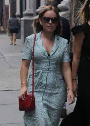 Tanya Burr - In long dress spotted leaving lunch at ABC Kitchen in New York City