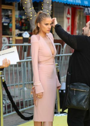 Tanya Mityushina in Pink Dress out in Los Angeles