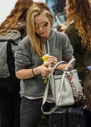 Tara Lipinski at Athens International Airport