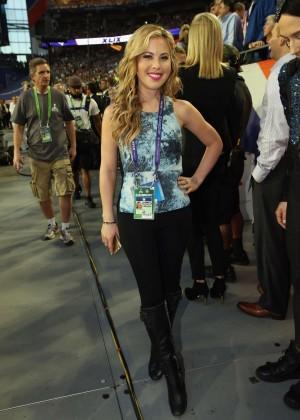 Tara Lipinski - Super Bowl XLIX 2015 in Glendale