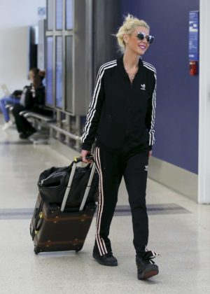 Tara Reid at LAX airport in Los Angeles
