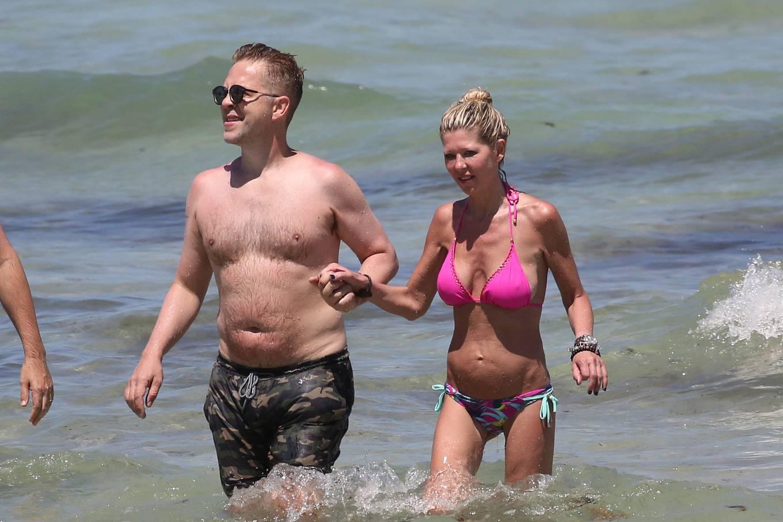 Tara Reid 2021 : Tara Reid – In a pink bikini at a beach in Miami-05