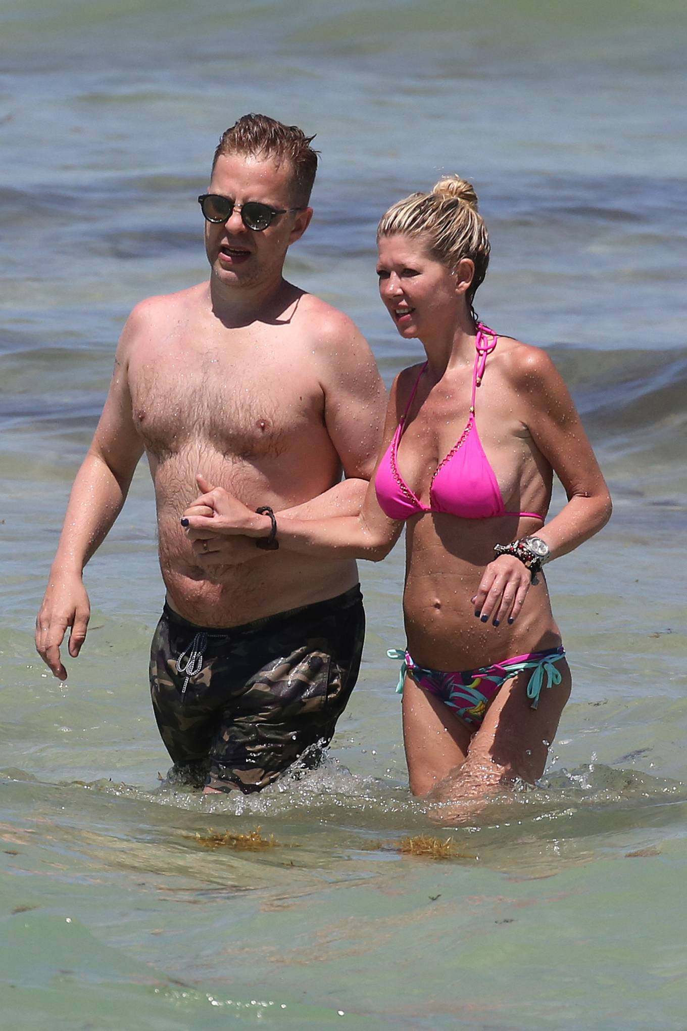 Tara Reid 2021 : Tara Reid – In a pink bikini at a beach in Miami-10