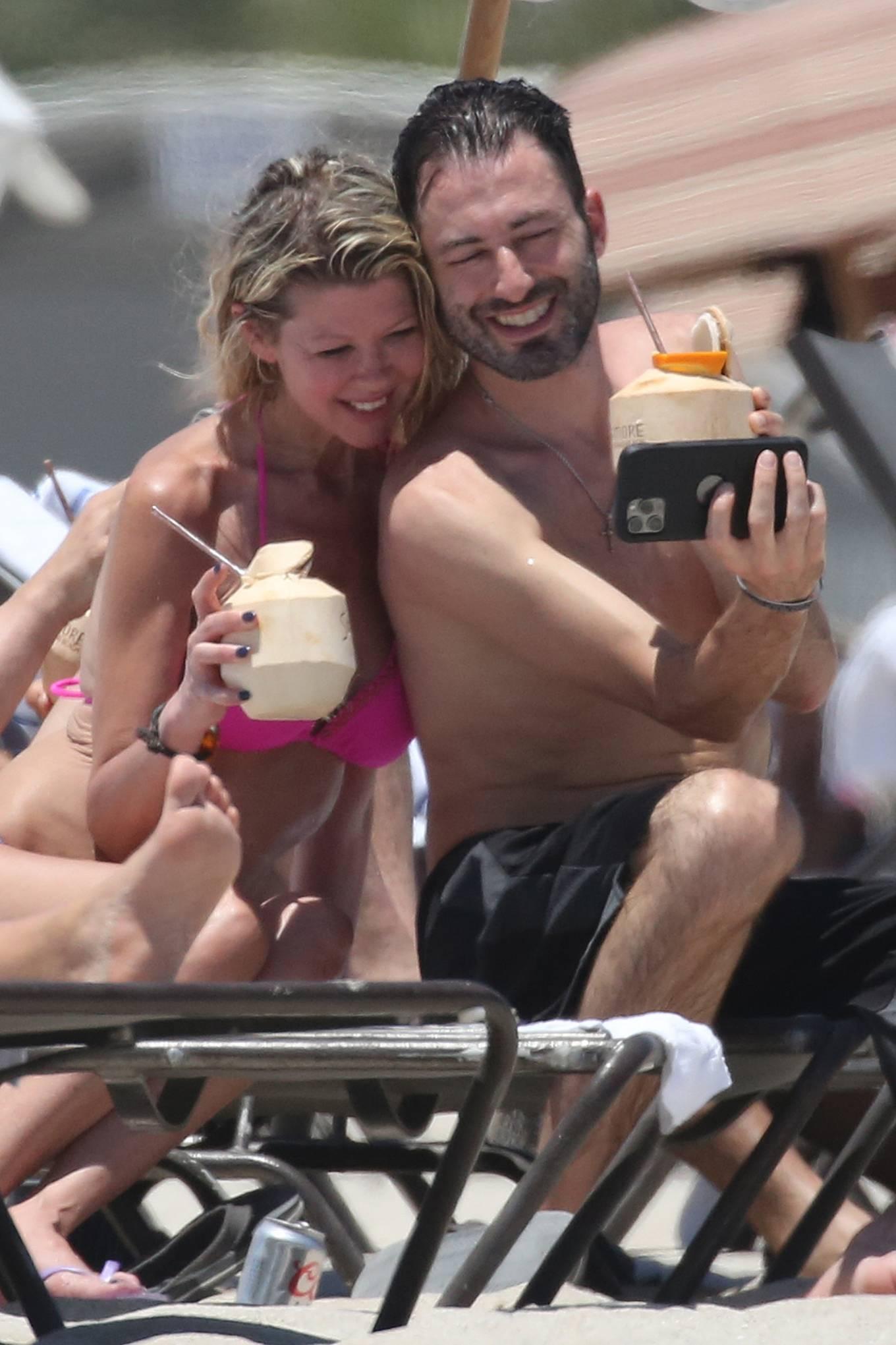 Tara Reid 2021 : Tara Reid – In a pink bikini at a beach in Miami-13