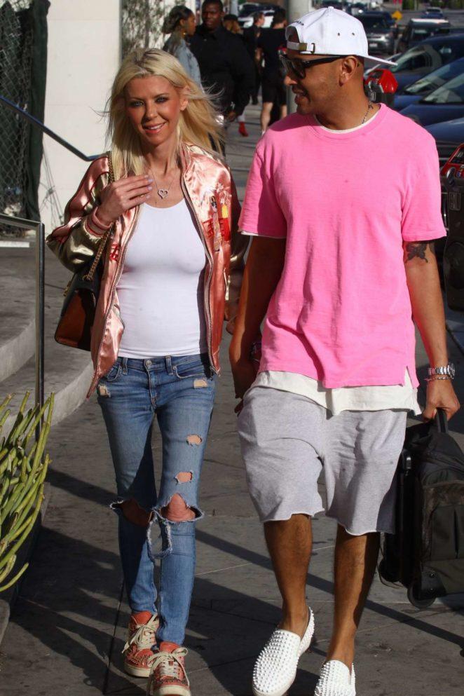 Tara Reid in Jeans - Leaves Catch LA in West Hollywood