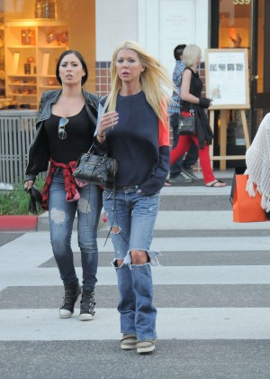 Tara Reid in Ripped Jeans Out in LA
