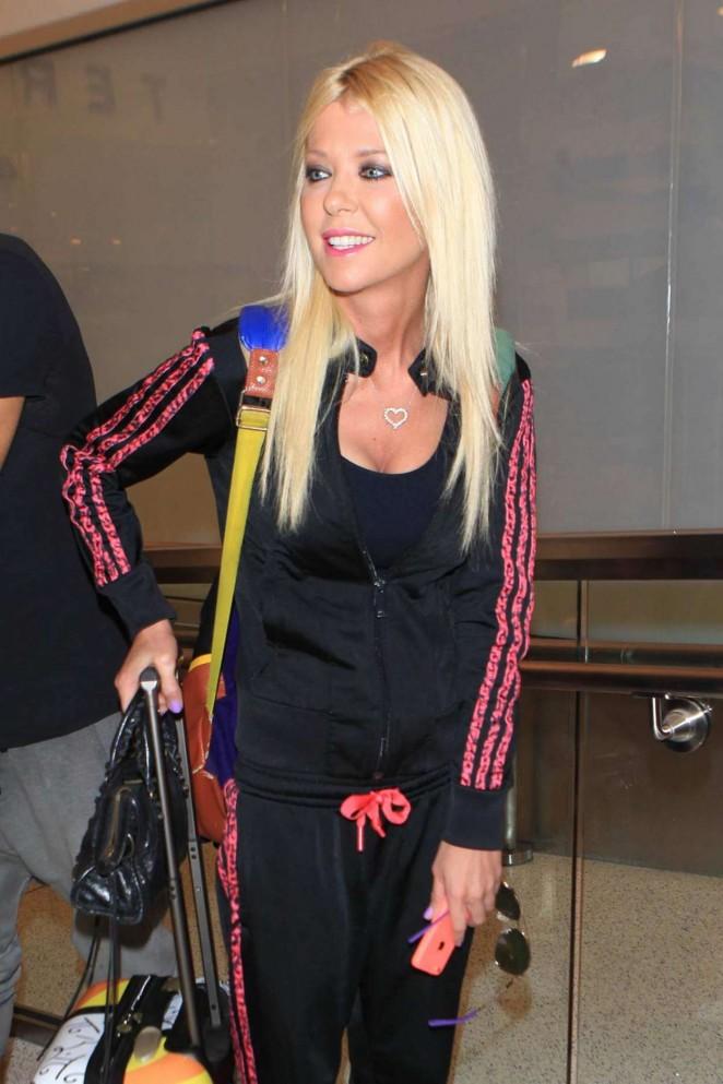 Tara Reid - LAX Airport in LA