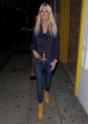 Tara Reid - Leaves Serafina in West Hollywood