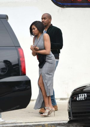 Taraji P. Henson at a lunch with friends in Los Angeles
