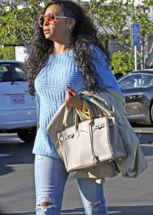 Taraji P. Henson at christmas shopping in West Hollywood