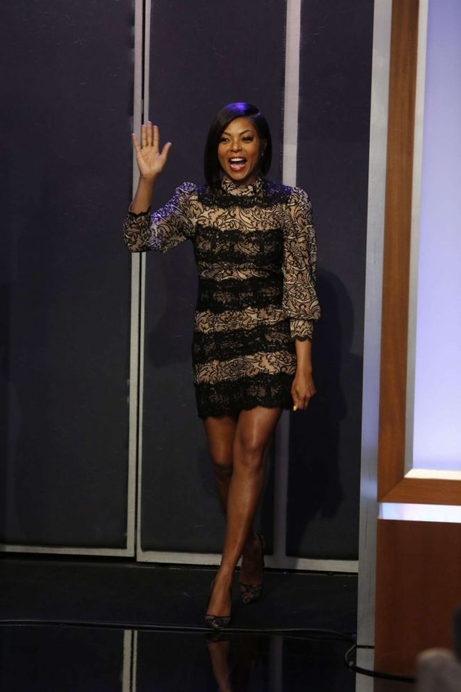 Taraji P. Henson at Jimmy Kimmel Live -01
