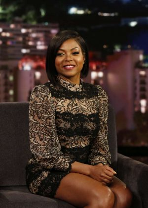 Taraji P. Henson at Jimmy Kimmel Live! in Los Angeles