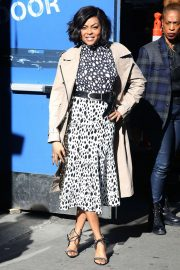 Taraji P. Henson - Exits Good Morning America in NYC