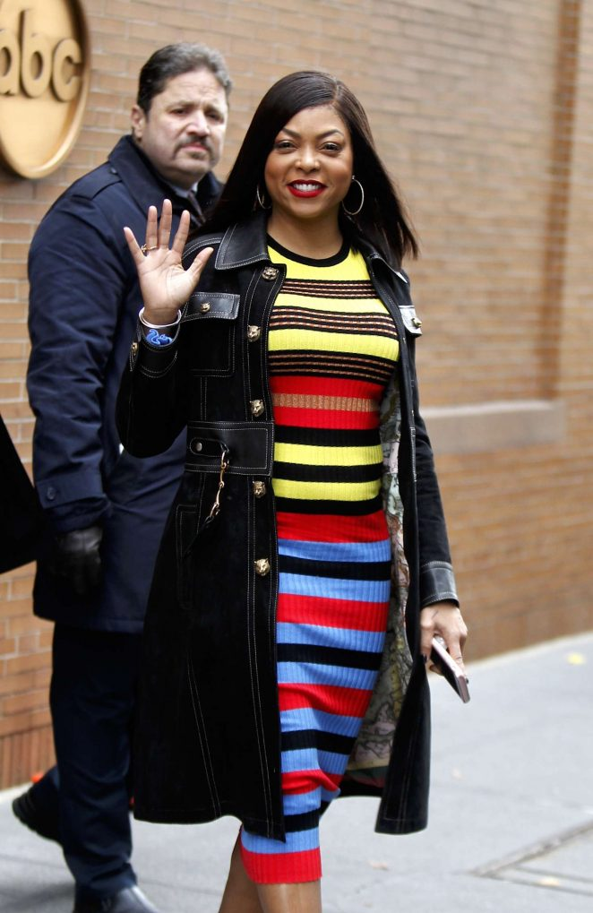 Taraji P. Henson - Leaving The View in Manhattan