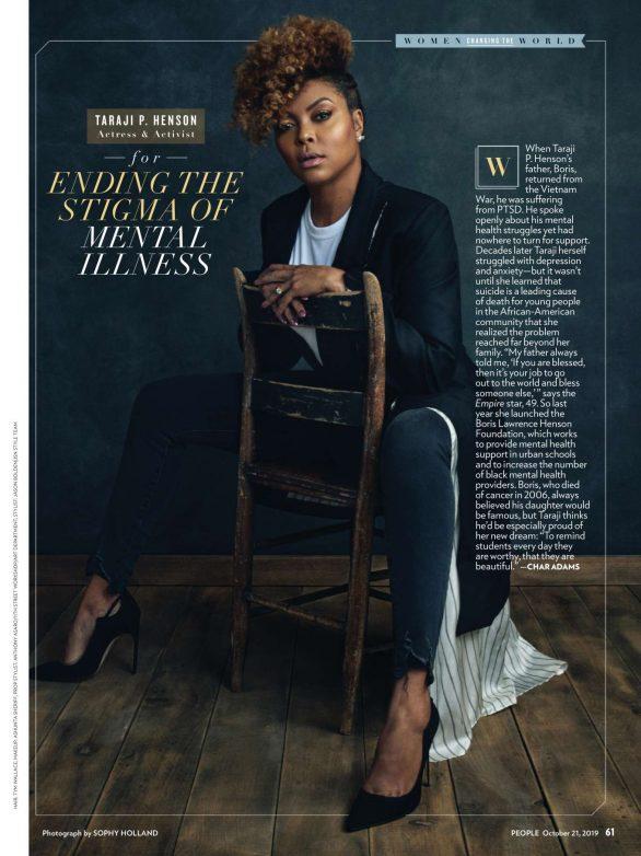 Taraji P. Henson - People US Magazine (October 2019)