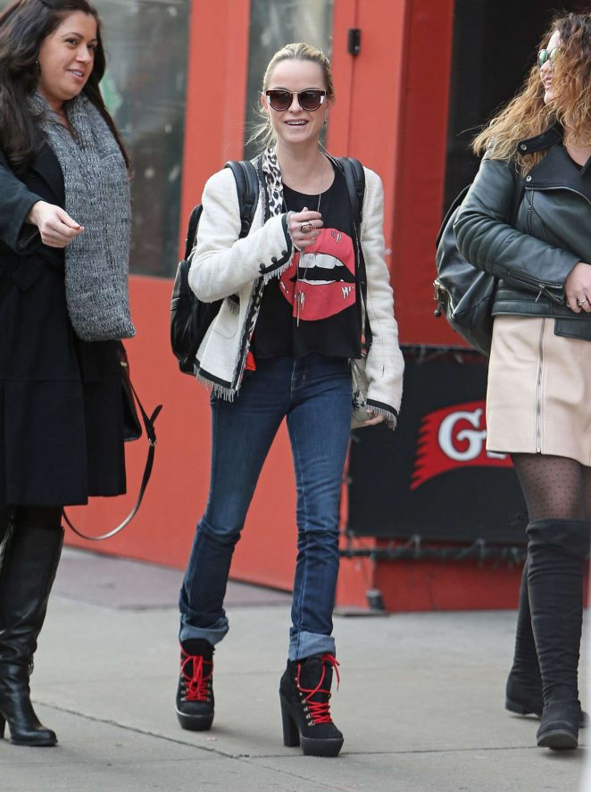 Taryn Manning heading to lunch in New York City