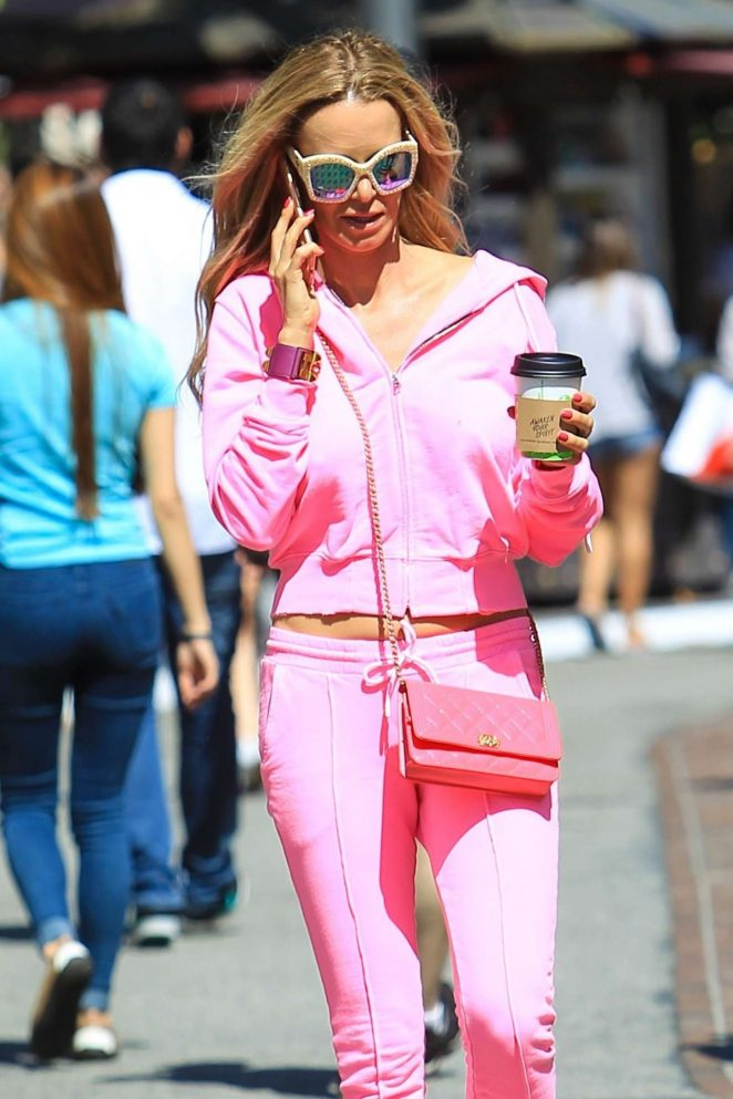 Taryn Manning in pink outfit out in Hollywood