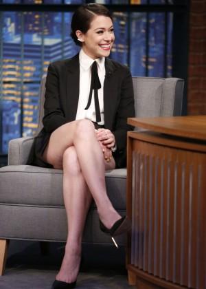 Tatiana Maslany at Late Night with Seth Meyers in NY