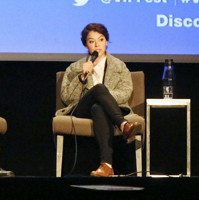 Uncategorized 2016 : Tatiana Maslany: Speaks at the VIFF in Vancouver-36