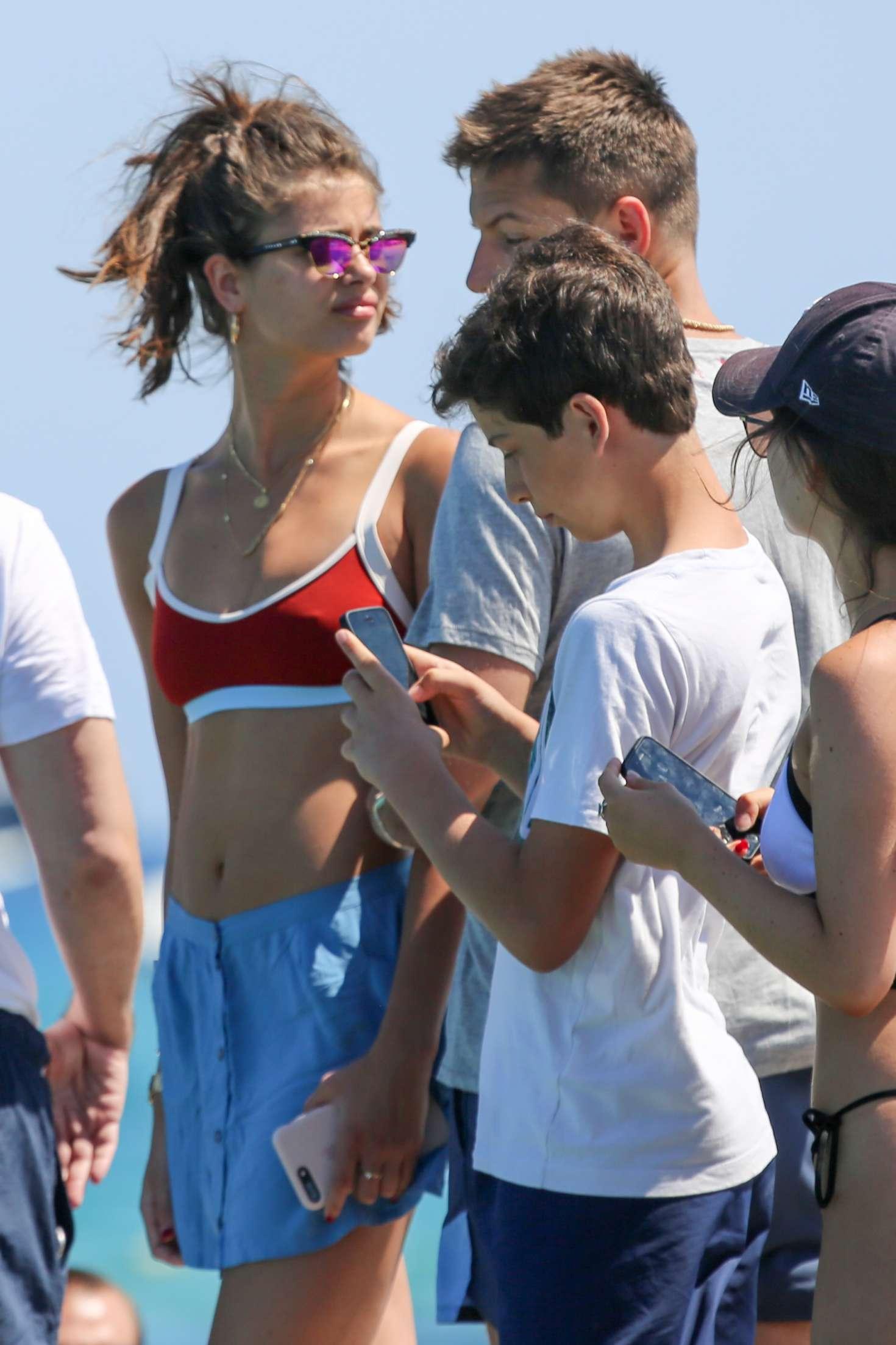Taylor Hill And Boyfriend On The Beach Club 55 In Saint Tropez