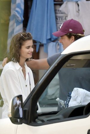 Taylor Hill and Daniel Fryer - Pictured on vacation in Portofino - Italy