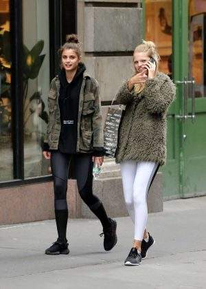 Taylor Hill and Daphne Groeneveld Leaving the Gym in New York City